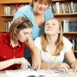 Librarian Helps Students — Stock Photo #6803129