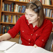 Teen Girl Studies — Stock Photo