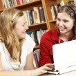 Teens Discuss Internet Content — Stock Photo