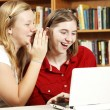 Teens Whisper and Web Surf — Stock Photo #6803171