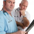 Serious Doctors With Xrays — Stock Photo