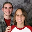 Brothers Christmas Portrait — Stock Photo #6803552