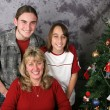 Christmas Family Portrait — Stock Photo