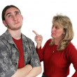 Mother Scolding Son — Stock Photo