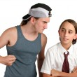 Stock Photo: School Bully - Aggression