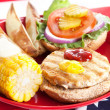 Stock Photo: Fourth of July Picnic - Turkey Burger