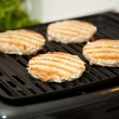 Grilling Turkey Burgers — Stockfoto