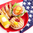 Stock Photo: Healthy Fourth of July Picnic