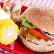 Healthy Turkey Burger Meal - Stok fotoğraf