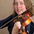 Stock Photo: Pretty Violinist 2
