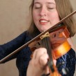 Prettyl Violinist — Stock Photo