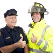Stock Photo: Blue Collar Heroes - Thumbsup