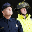 Blue Collar Heroes - Stock Photo