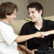 Brothers Fist Bump - Foto Stock