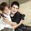 Brothers Playing Video Games — Stock Photo