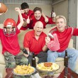 Excited Football Fans — Stock Photo