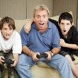 Stock Photo: Family Game Night