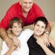 Stock Photo: Father and Sons