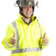 Firefighter - Two Thumbs Up — Stock Photo