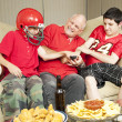 Football Fans Fight for Remote — Stock Photo