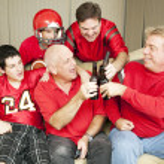 Football Fans Toast Success — Stock Photo
