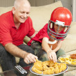 Royalty-Free Stock Photo: Football Fans and Snacks