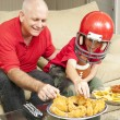 Stock Photo: Football Fans and Snacks