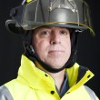 Royalty-Free Stock Photo: Portrait of Serious Firefighter