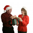 Exchanging Gifts — Photo
