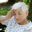 Sad Senior with Headache — Stock Photo #6806135
