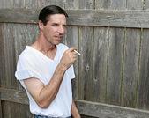 Bored Smoker - Copyspace — Stock Photo