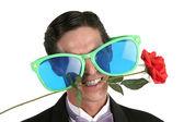 Oversize Glasses & Rose — Stock Photo