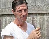 Tough Guy Smoking — Stock Photo