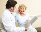 Discussing Patient Treatment Options — Stock Photo