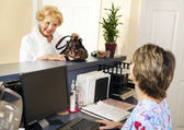 Patient Checks Out — Stock Photo