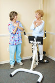 Physical Therapist with Chiropractic Patient — Stock Photo