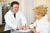 Providing Medical Insurance Info — Stock Photo