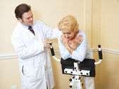 Senior Woman Physical Therapy — Stock Photo