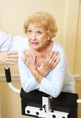 Senior Woman Spine Stretch — Stock Photo