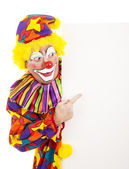 Circus Clown Pointing — Stock Photo