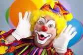 Clown Makes Funny Face — Stock Photo