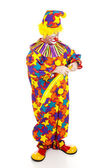 Clown Twisting Balloon Animal — Stock Photo