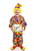 Clown With Cake - Full Body — Stock Photo