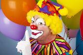 Färgglada clown - shhhh — Stockfoto