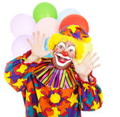 Funny Birthday Clown — Stock Photo