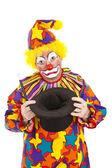 Sad Clown Empty Hat — Stock Photo