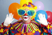 Silly Clown Surprise — Stock Photo