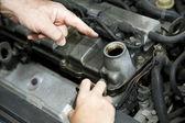 Car Repair - Changing Oil — Stock Photo