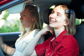 Distracted Teenage Driver — Stock Photo