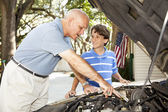 Father Son Project — Stock Photo